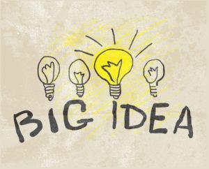 Innovative lamp. Big idea